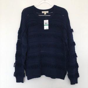 MICHAEL Michael Kors True Navy Tassle Sweater